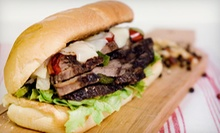 Subs, Burgers, Sandwiches, and Drinks for Two or Four, or Catering Platters at Philly Steak and Sub (Half Off)