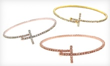 $19 for a Sideways Cross Bracelet at Mon Ami Jewelry ($75 Value)