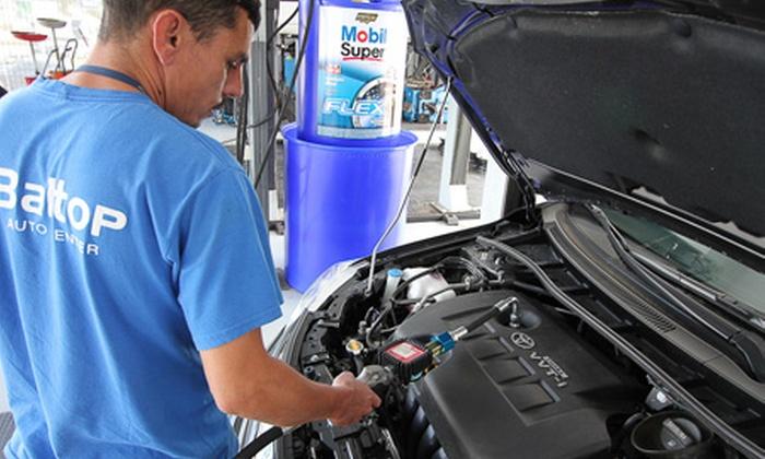 Baltop Auto Center - Balneário Camboriú: Baltop Auto Center – Ariribá: óleo e inspeção de 50 itens (opção de filtro e anel de vedação), a partir de R$ 49,90