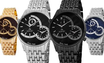 August Steiner Men's Dual Time Watch
