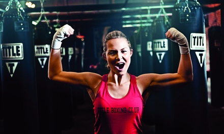 $19 for 2 Weeks of Boxing and Kickboxing Classes, Including Hand Wraps at TITLE Boxing Club ($55.99 Value)