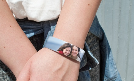 Personalized Cuff Bracelets from Picture It On Canvas for $10.99–$12.99