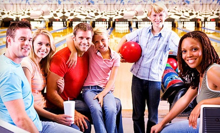 Two Hours of Bowling for Up to 6 or 12 People with Option for Large Pizza at Burlington Bowl (Up to 76% Off)