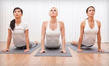 One Month of Unlimited Yoga Classes or 12 Drop-In Yoga Classes at Essential Yoga (Up to 83% Off)