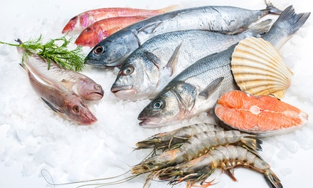 FISH ALEX — Linda-a-Velha: vale de desconto de 25€ ou 50€ para peixe fresco, congelados e vinho alentejano desde 12,50€