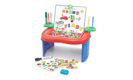 My First Classroom 106-Piece Portable Apple Drawing Desk