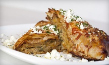 Three-Course Greek Dinner with Drinks or Wine for Two or Four at Taverna Mazi (Up to 59% Off)