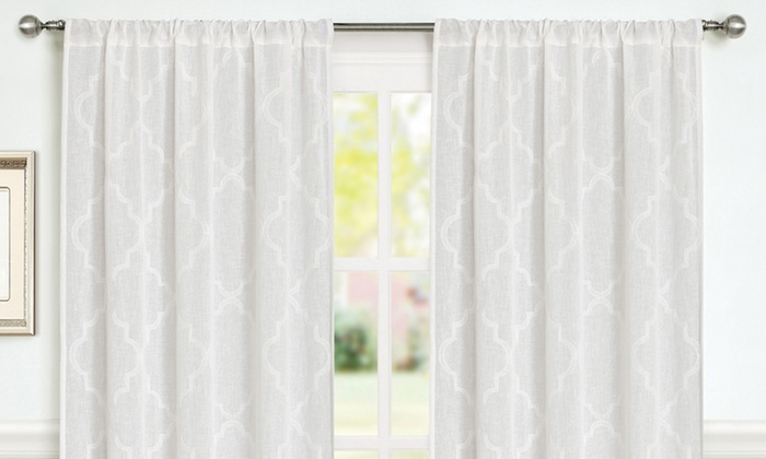 Pack of Laura Ashley Curtain Panels. Multiple Colors and Styles ...
