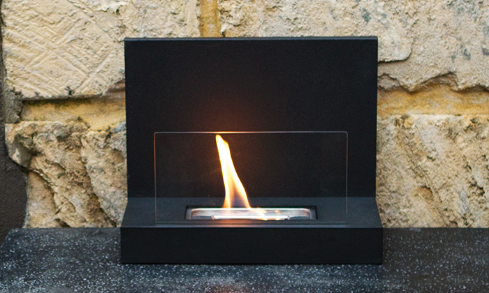 Cylindrical eco friendly fire place for Eco friendly fireplace