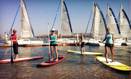 $45 for a Beginners&#x27; Standup-Paddleboarding Class for Two at OEX Mission Bay ($90 Value)
