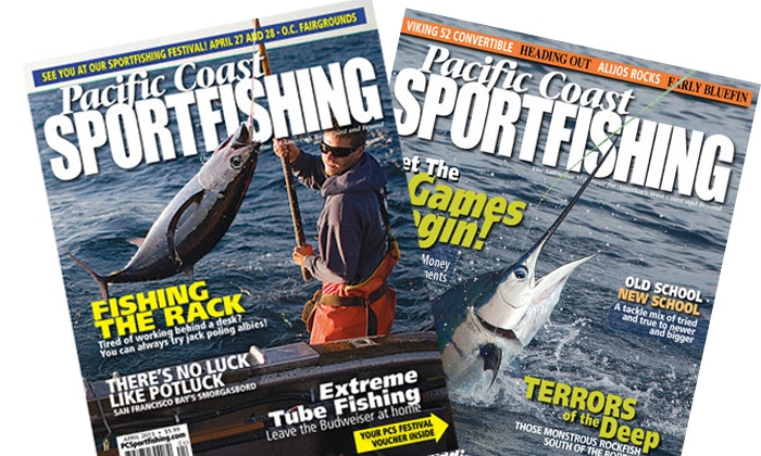 Pacific coast sportfishing magazine deal of the day groupon for Pacific fishing magazine