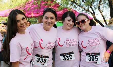 5K, 10K, or 1-Mile  Race Entry from The Breast Cancer Society on September 20 or 21          (Up to 53% Off)