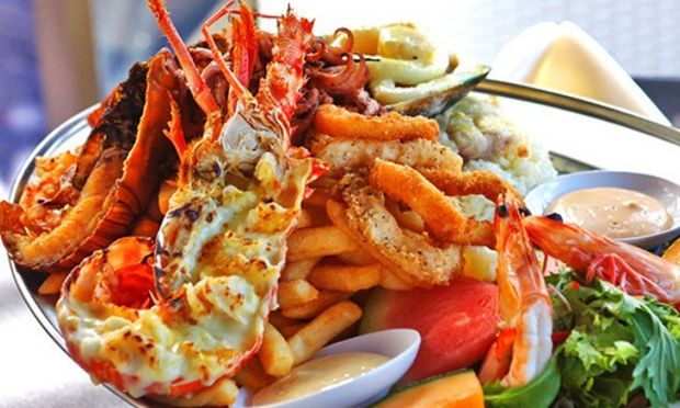 Seafood Platter + Half a Lobster - Galaxy Seafood & Mediterranean Restaurant | Groupon