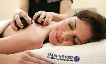 One-Hour Swedish Massage, One-Hour Signature Facial, or Both at Hand & Stone Massage and Facial Spa (Up to 58% Off)