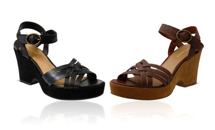 G.H. Bass & Co. Sicily Leather Wedge Sandals