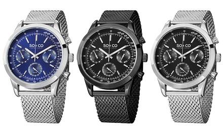 Relógio SO&CO New York masculino disponível em três modelos por 59,99€