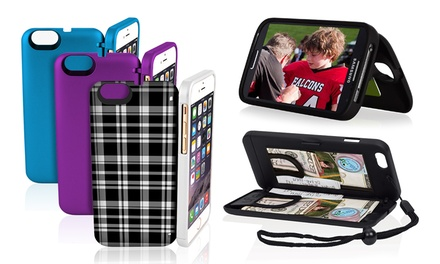 EYN Protective Smartphone Case with Hidden Storage for iPhone 4/4s/5/5s/5c/6/6 Plus and Samsung Galaxy S4
