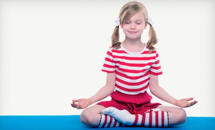 6 or 12 Kids' Yoga Classes at Katerpillar Kids Yoga (Up to 76% Off)