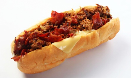 Cheesesteaks and Hoagies at Cheese Steak Shop (40% Off). Two Options Available.