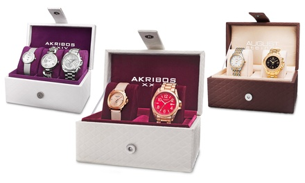 Akribos XXIV and August Steiner Women's 2- and 3-Piece Watch Gift Sets from $59.99–$89.99