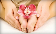 One or Two Paraffin-Wax Manicures with Hot-Stone Pedicures at Luce Salon & Esthetics (Up to 69% Off)
