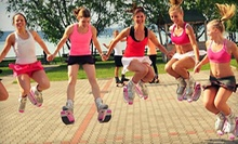 Three or Six All-Female Kangoo Jumps Fitness Classes with Boot Rental at Lady Fit (Up to 63% Off)