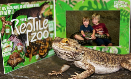 $33 for General Admission for Four and Photos With a Snake at The Reptile Zoo ($68 Value)