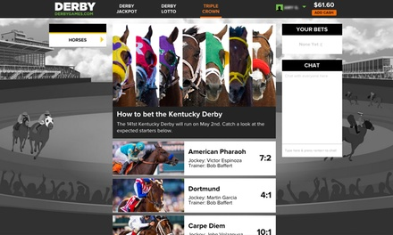 $15 for $30 of Wagering Credit to Bet the Derby at DerbyJackpot