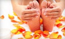 One or Two Deluxe Spa Pedicures with Option for Eyebrow Waxes at Nice Nails (Up to 59% Off)