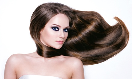 Haircut and Style with Optional Highlights, Color, or Hot-Oil Steam Treatment at Jovana Salon (50% Off)