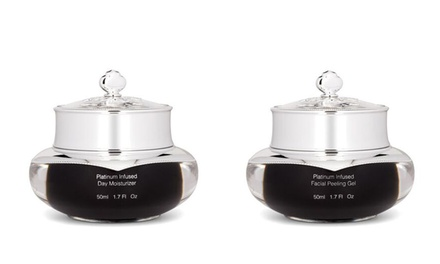 Euphorie Platinum-Infused Day Moisturizer and Facial-Peeling Gel; 1.7 Oz. Each