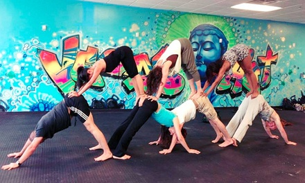 $28 for One Month of Unlimited Yoga and Pilates Classes at Vegas Hot! Yoga and Pilates ($99 Value)