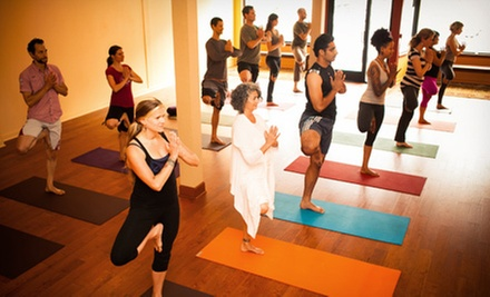 One Month of Unlimited Classes or 10 Classes at Mandala Yoga Studio (Up to 65% Off)