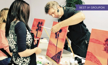 Two-Hour Painting Class for One or Two at PaintNVineyard (43% Off)