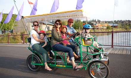 Bike or Boat Rentals Plus $8 or $16 Worth of Concessions from Wheel Fun Rentals (53% Off)
