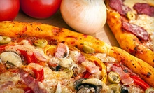 Casual Food and Drinks at Caliente Pizza and Bar (Up to 52% Off). Two Options Available.
