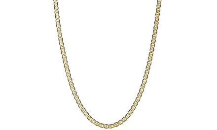 Solid 14K Gold Gucci-Link Chain Necklace for Men and Women