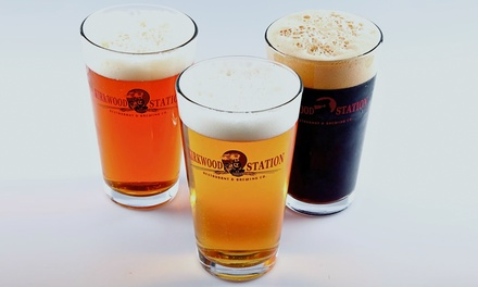 Draft Beer Tasting for Two or Two Appetizers and Four Draft Beers at Kirkwood Station Brewing Co. (Up to 39% Off)