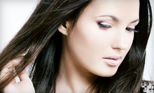 Cut, Wash, and Blowout with Single-Process Color or Partial Highlights at Uptowne Girl (Up to 73% Off)