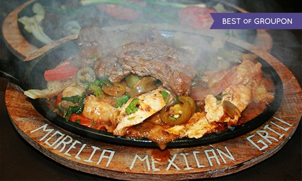 Mexican Lunch or Dinner for Two or More at Morelia Mexican Grill. Three Options Available (Up to 34% Off).