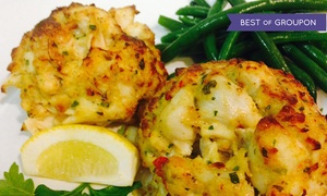 Seafood And American Cuisine At Captain James Landing (up To 83% Off). Two Options Available.