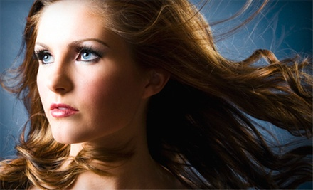 Haircut and Blow-Dry with Optional Gloss Moisturizing Treatment or Partial Highlights at I Soci Salon (Up to 61% Off)