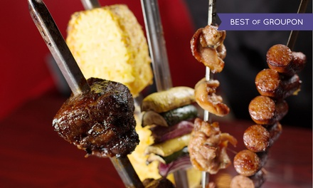 Brazilian Steakhouse Dinner for Two at Rio Grill. Two Options Available.