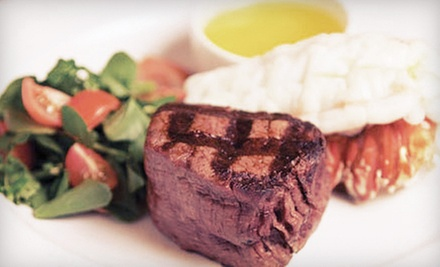Steaks, Seafood, and Drinks at Centennial Steakhouse at Zia Park Casino (Half Off). Two Options Available.