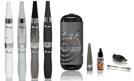 Atmos Dart Dry Herb, Wax, and Oil Vaporizer Kit with Tobacco Flavored Oil | Groupon Exclusive