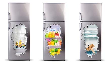 Vinil decorativo 3D para frigorífico por 14,90€