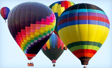 Hot Air Balloon Ride with a Champagne Toast for One, Two, or Four from Airbus Balloon Rides (Up to 61% Off)