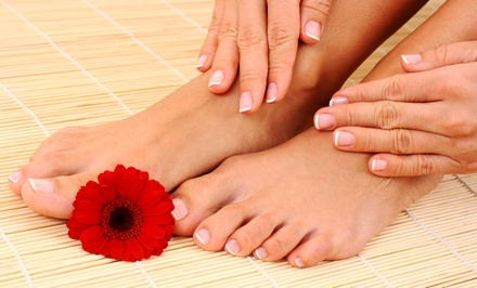 One or Two Deluxe Mani-Pedis at Look And Feel Good Salon and Spa (Up to 56% Value)