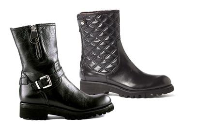 Women's Leather Biker Boots