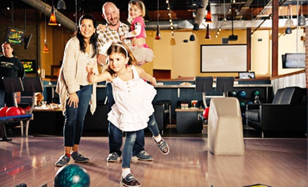 Bowling for Up to Six; Football, Bowling, and Prime-Rib Buffet for Two; or $10 for $20 Worth of Food at Gametime